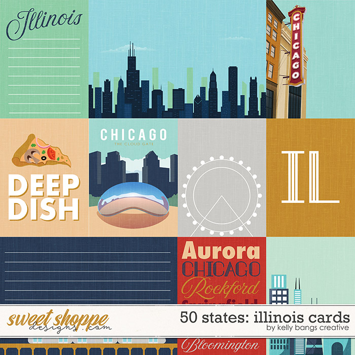 50 States: Illinois Cards by Kelly Bangs Creative