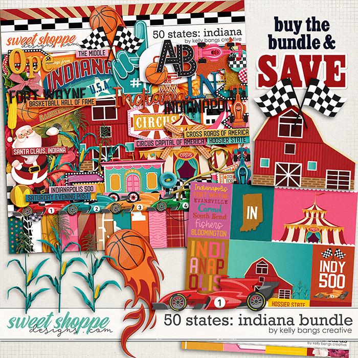 50 States: Indiana Bundle by Kelly BangsCreative