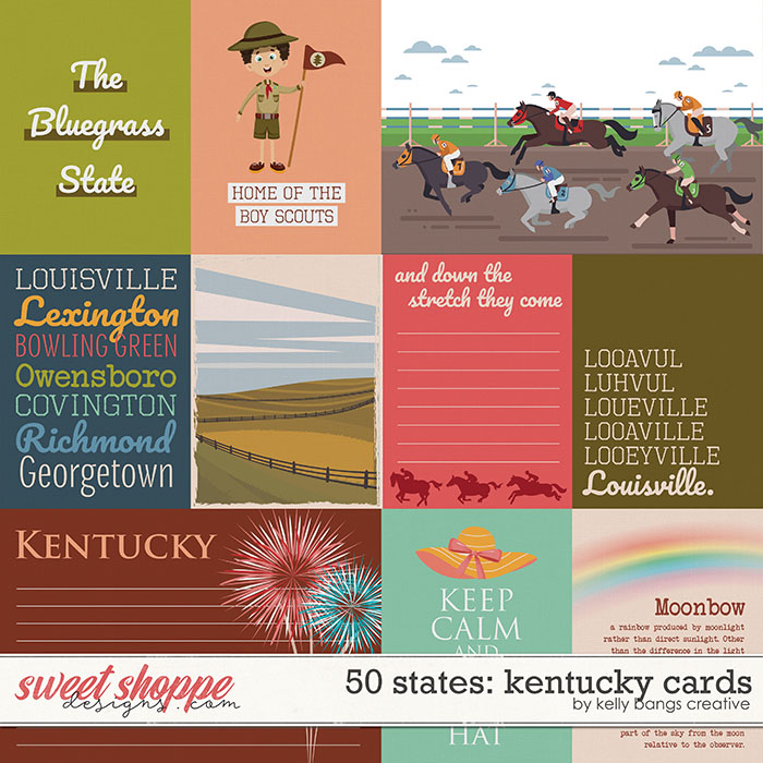 50 States: Kentucky Cards by Kelly Bangs Creative
