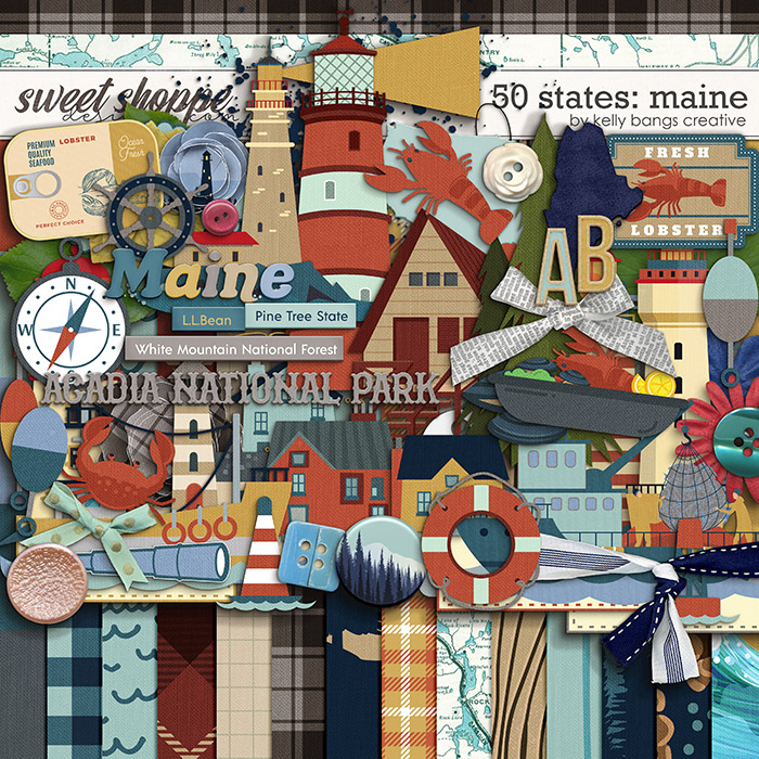 50 States: Maine by Kelly Bangs Creative