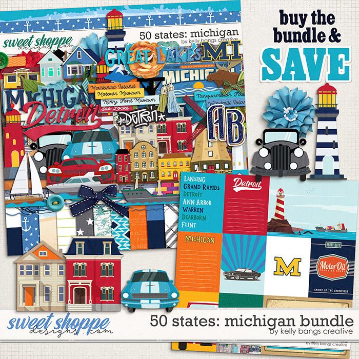 50 States: Michigan Bundle by Kelly Bangs Creative