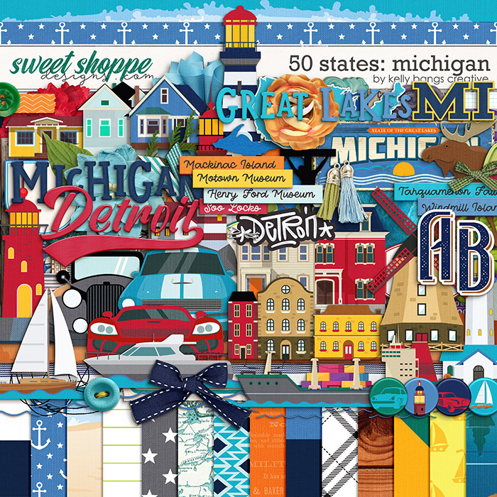 50 States: Michigan by Kelly Bangs Creative
