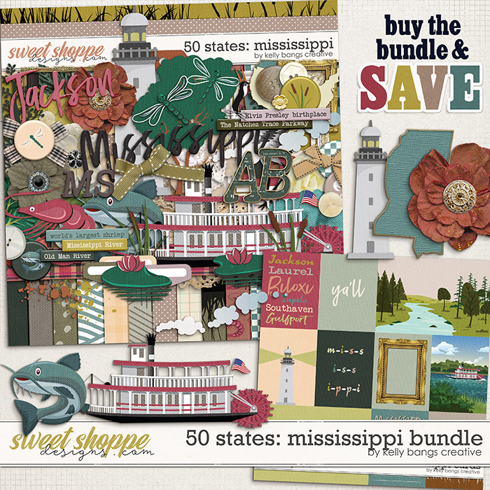 50 states: Mississippi Bundle by Kelly Bangs Creative