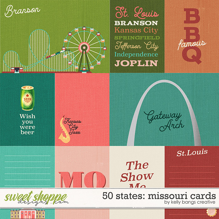 50 States: Missouri Cards by Kelly Bangs Creative