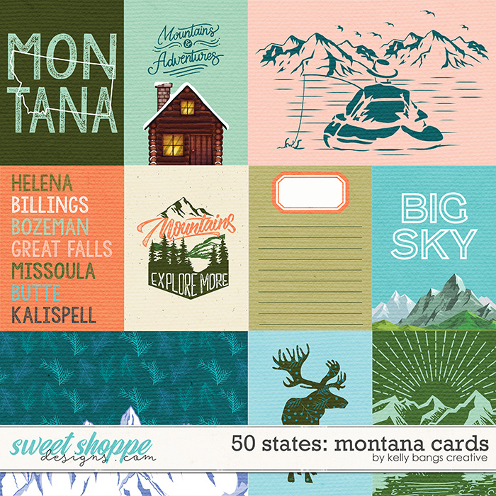 50 States: Montana Cards by Kelly Bangs Creative