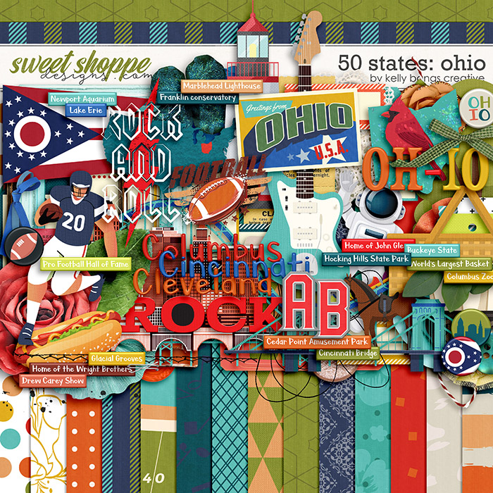 50 States: Ohio by Kelly Bangs Creative