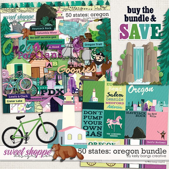 50 States: Oregon Bundle by Kelly Bangs Creative