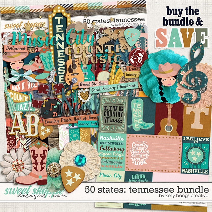 50 States: Tennessee Bundle by Kelly Bangs Creative