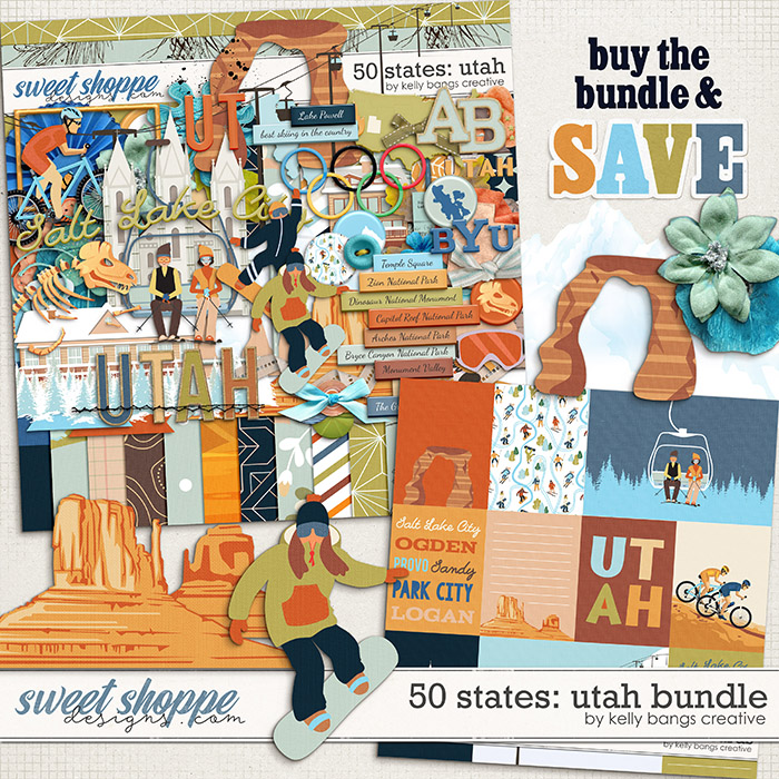 50 states: Utah Bundle by Kelly Bangs Creative