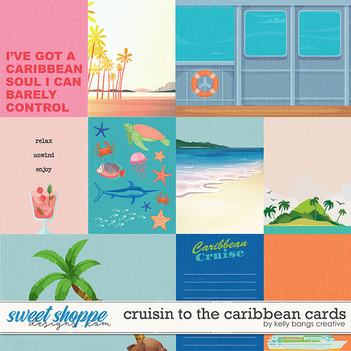 Cruisin to the Caribbean Cards by Kelly Bangs Creative
