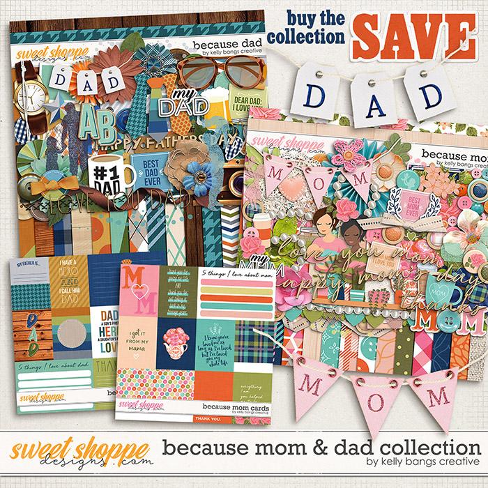 Because Mom & Dad Bundle by Kelly Bangs Creative