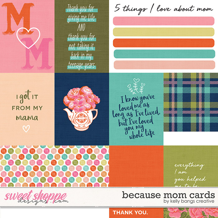 Because Mom Cards by Kelly Bangs Creative