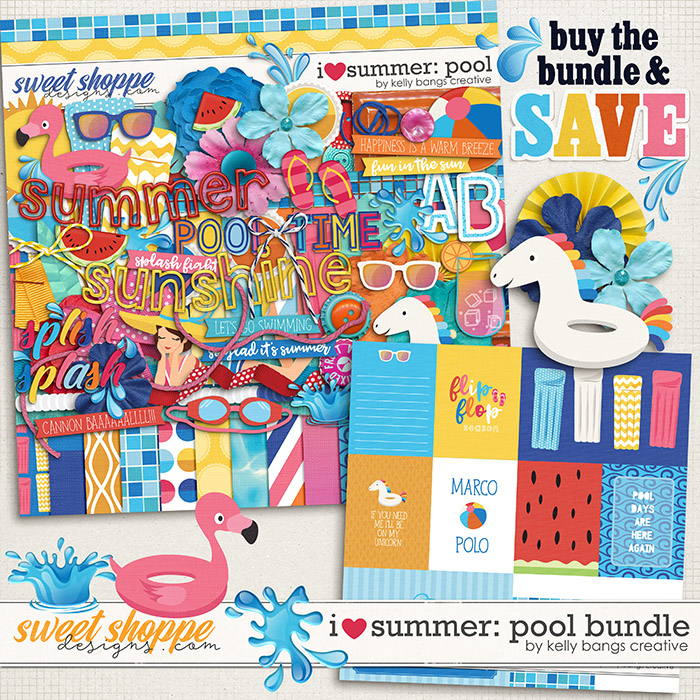 I Heart Summer: Pool Bundle by Kelly Bangs Creative