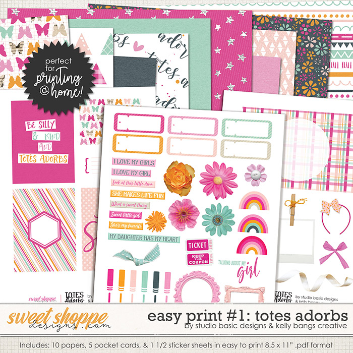 Easy Print: Totes Adorbs #1 by Kelly Bangs Creative and Studio Basic