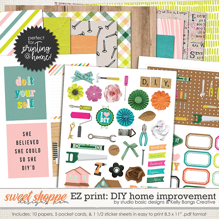 Easy Print: DIY: Home Improvement by Kelly Bangs Creative and Studio Basic