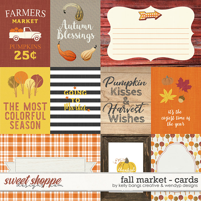 Fall Market Cards by Kelly Bangs Creative and WendyP Designs
