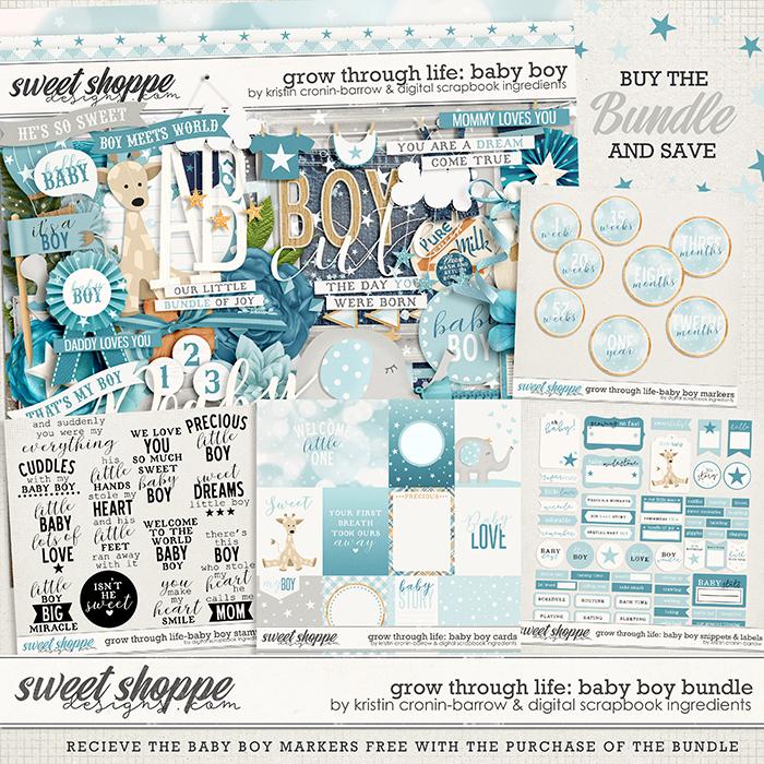 Grow Through Life - Baby Boy Bundle & *FWP* by Kristin Cronin-Barrow & Digital Scrapbook Ingredients