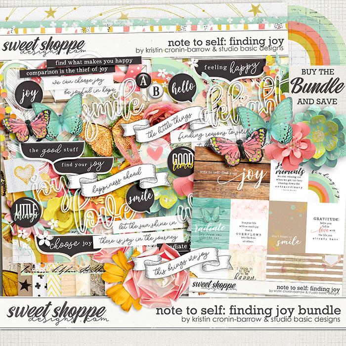 Note To Self: Finding Joy Bundle by Kristin Cronin-Barrow & Studio Basic