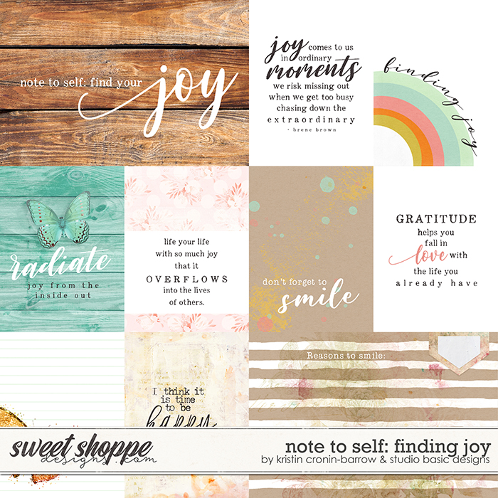 Note To Self: Finding Joy Cards by Kristin Cronin-Barrow & Studio Basic