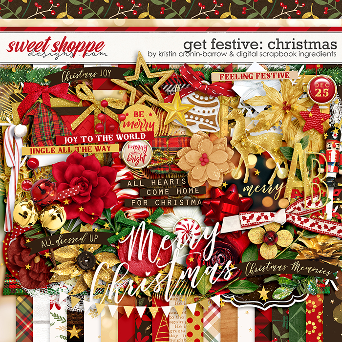 Get Festive: Christmas by Kristin Cronin-Barrow & Digital Scrapbook Ingredients