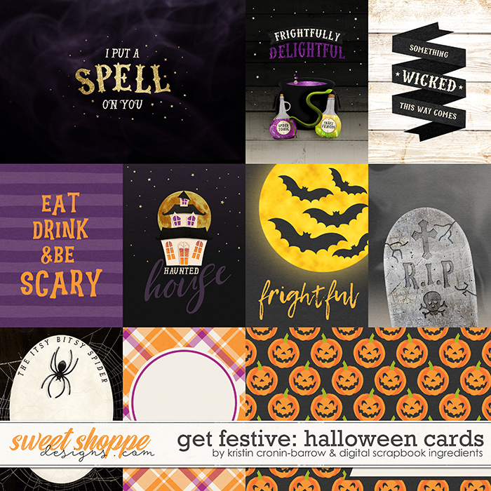 Get Festive: Halloween | Cards by Kristin Cronin-Barrow & Digital Scrapbook Ingredients
