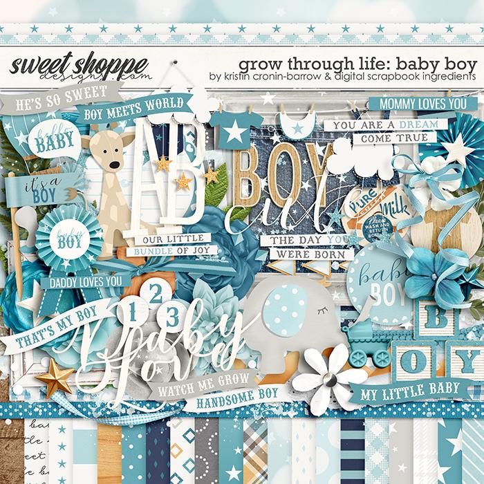 Grow Through Life - Baby Boy by Kristin Cronin-Barrow & Digital Scrapbook Ingredients