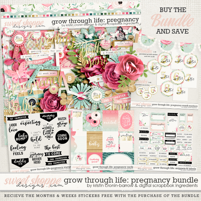 Grow Through Life - Pregnancy Bundle & *FWP* by Kristin Cronin-Barrow & Digital Scrapbook Ingredients