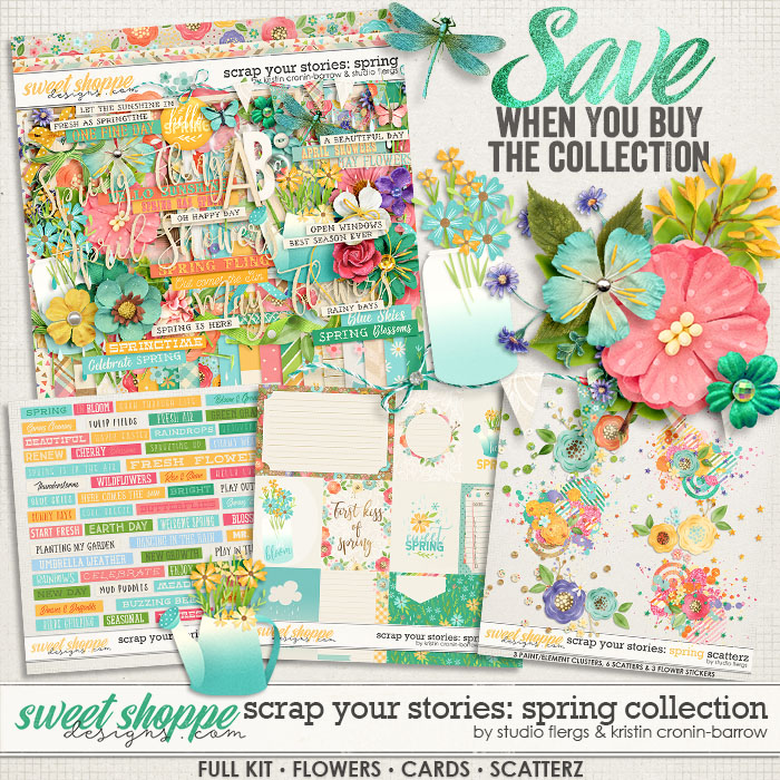 Scrap Your Stories: SPRING- Collection by Studio Flergs & Kristin Cronin-Barrow