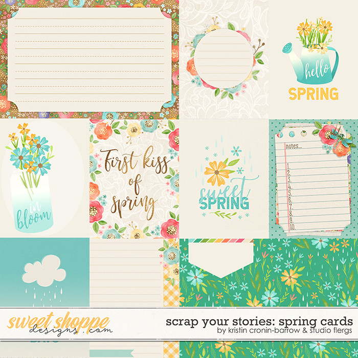 Scrap Your Stories: SPRING- Cards by Studio Flergs & Kristin Cronin-Barrow