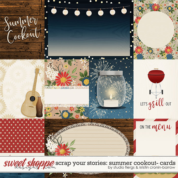 Scrap Your Stories: Summer Cookout - Cards by Studio Flergs and Kristin Cronin-Barrow