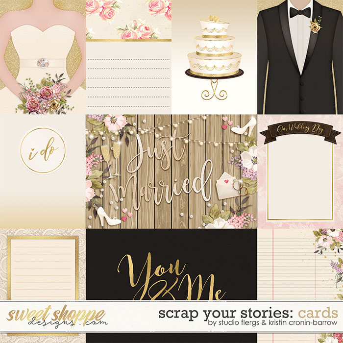 Scrap Your Stories: Wedding - Cards by Studio Flergs and Kristin Cronin-Barrow