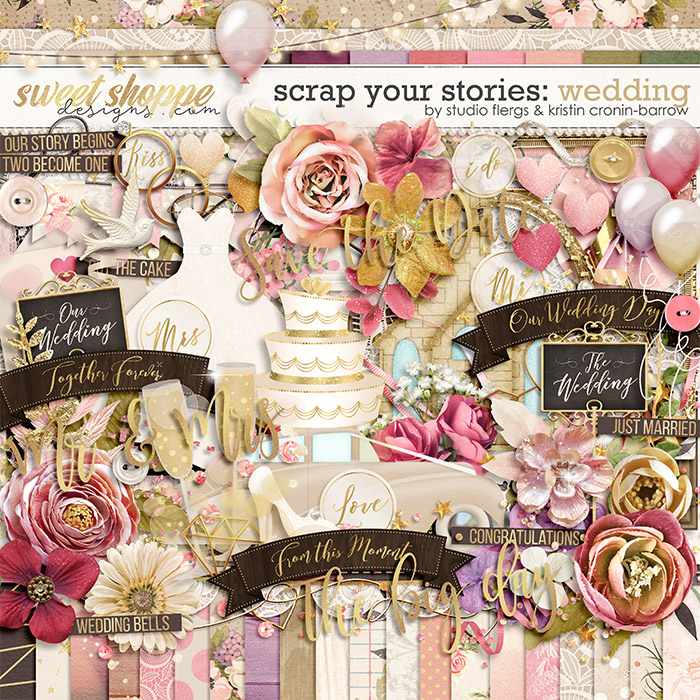 Scrap Your Stories: Wedding - Kit by Studio Flergs and Kristin Cronin-Barrow