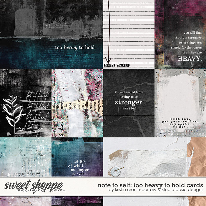 Note To Self: Too Heavy To Hold Cards by Kristin Cronin-Barrow & Studio Basic