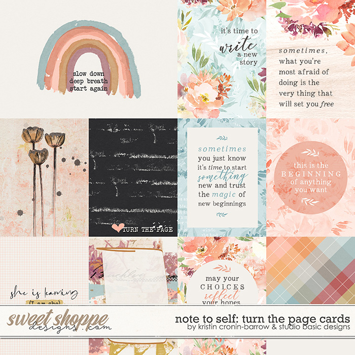 Note To Self: Turn The Page Cards by Kristin Cronin-Barrow & Studio Basic