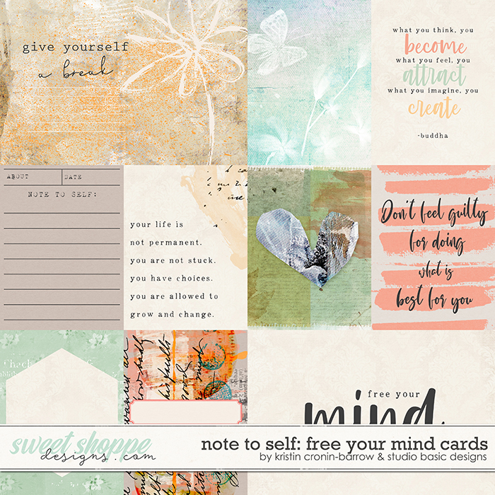 Note To Self: Free Your Mind Cards by Kristin Cronin-Barrow & Studio Basic