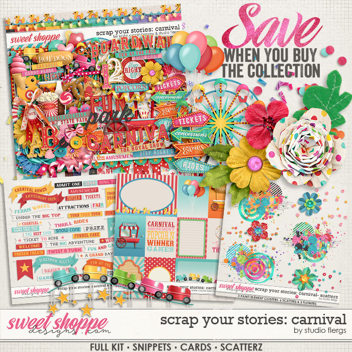 Scrap Your Stories: Carnival- BUNDLE by Studio Flergs & Kristin Cronin-Barrow