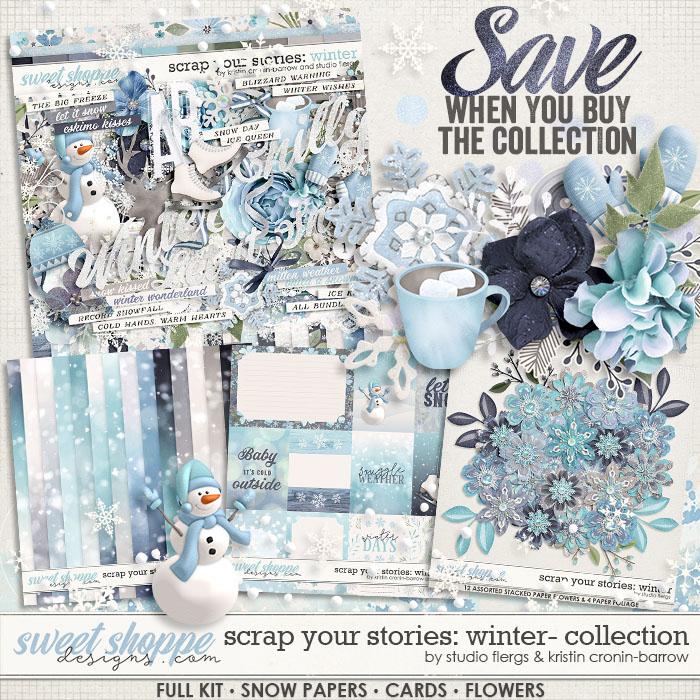 Scrap Your Stories: Winter- BUNDLE by Studio Flergs & Kristin Cronin-Barrow