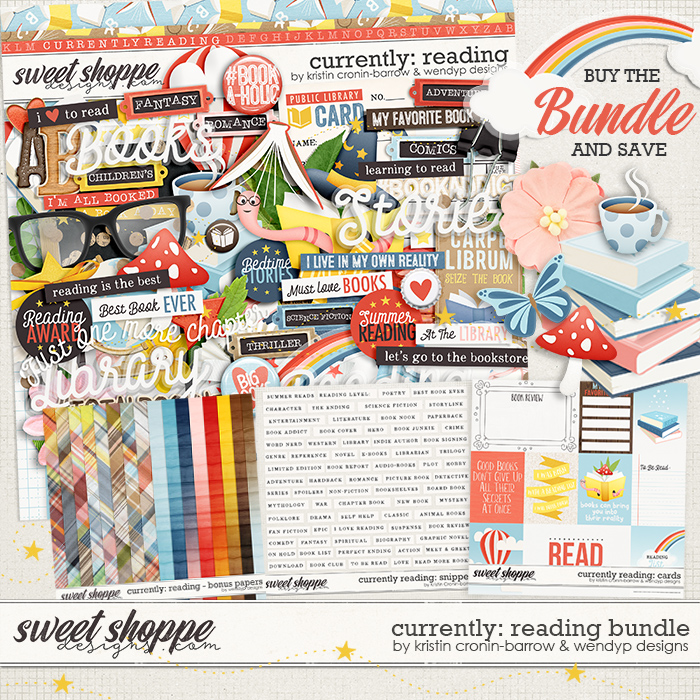 Currently: Reading - Bundle by Kristin Cronin-Barrow and WendyP Designs
