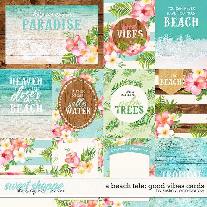 A Beach Tale: Good Vibes Cards by Kristin Cronin-Barrow