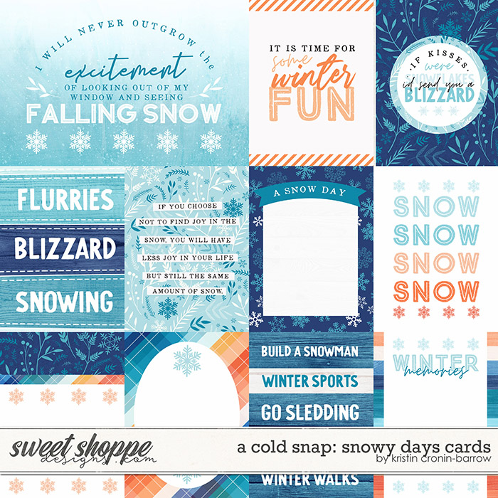 A Cold Snap: Snowy Days Cards by Kristin Cronin-Barrow