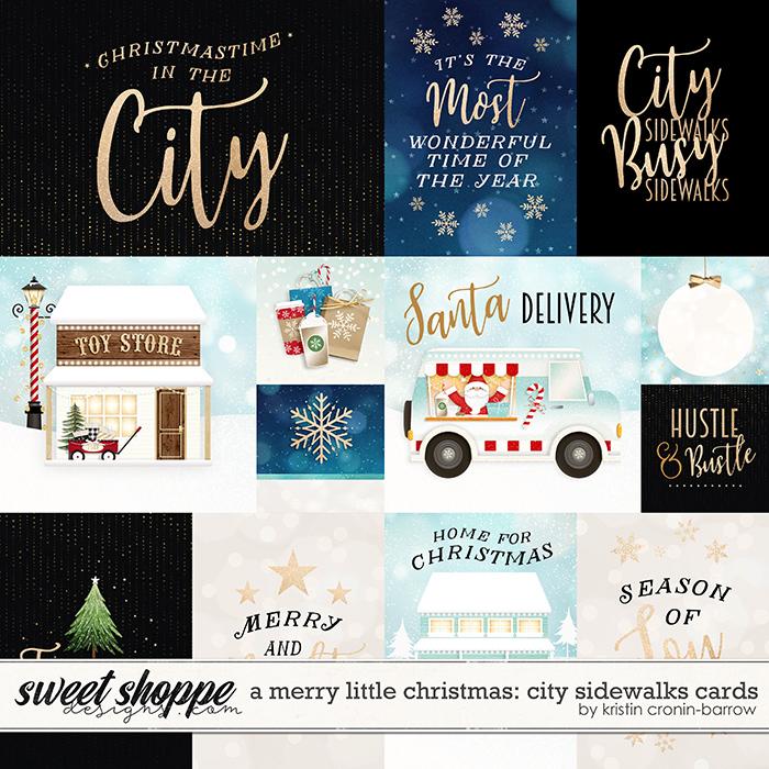 A Merry Little Christmas: City Sidewalks Cards by Kristin Cronin-Barrow