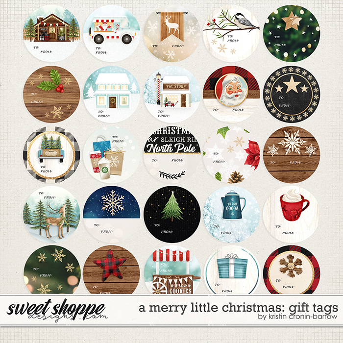 A Merry Little Christmas: Gift Tags by Kristin Cronin-Barrow