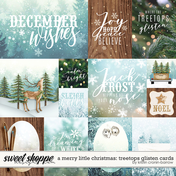 A Merry Little Christmas: Treetops Glisten Cards by Kristin Cronin-Barrow
