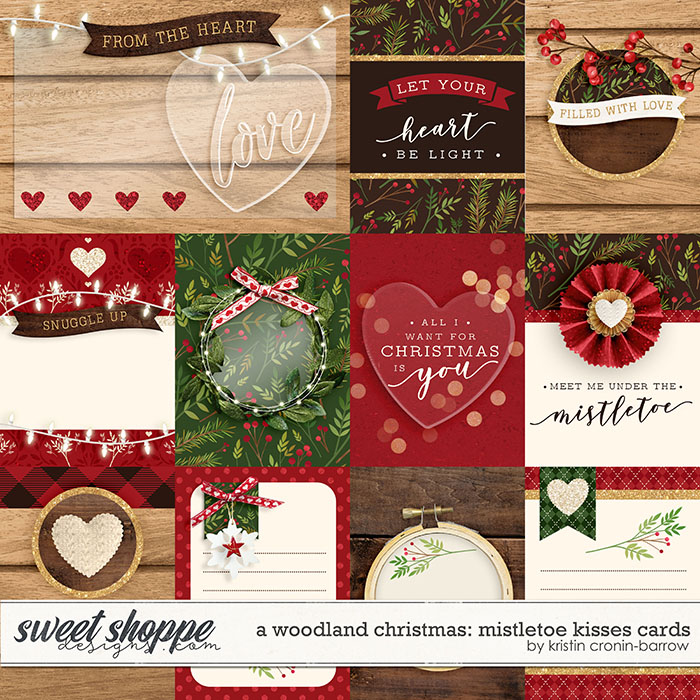 A Woodland Christmas: Mistletoe Kisses Cards by Kristin Cronin-Barrow