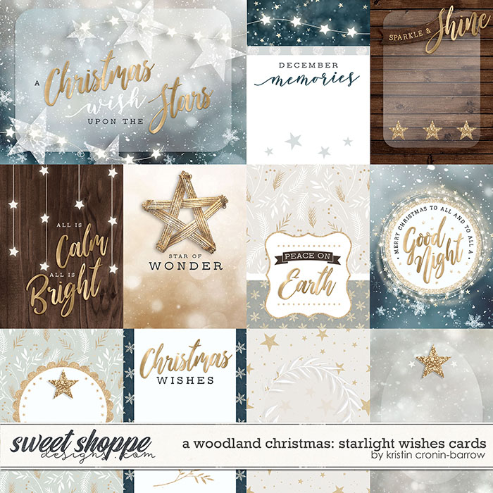 A Woodland Christmas: Starlight Wishes Cards by Kristin Cronin-Barrow