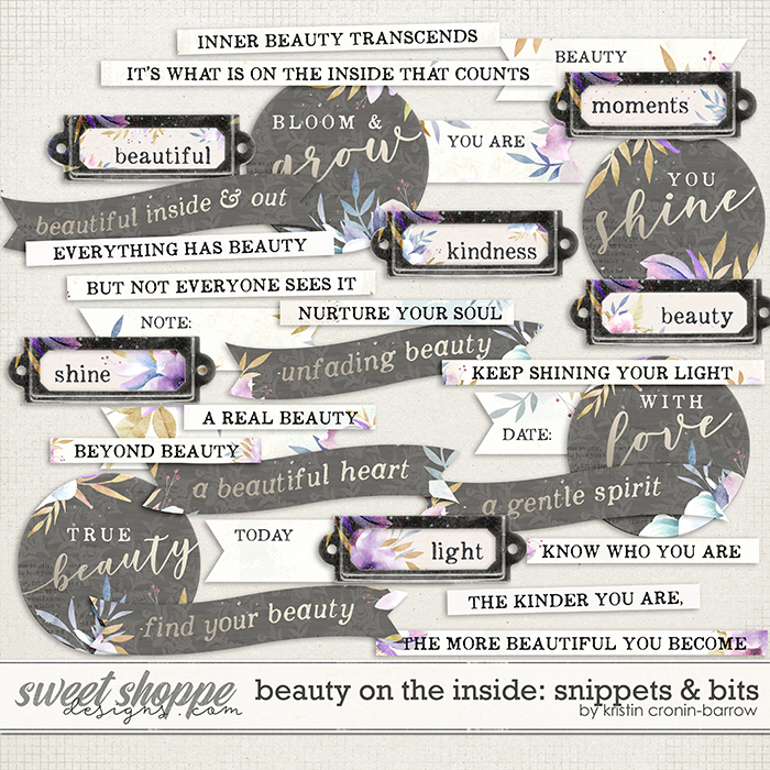 Beauty on the Inside: Snippets & Bits by Kristin Cronin-Barrow