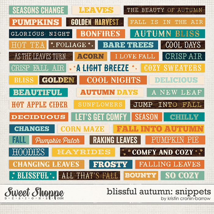 Blissful Autumn Snippets by Kristin Cronin-Barrow