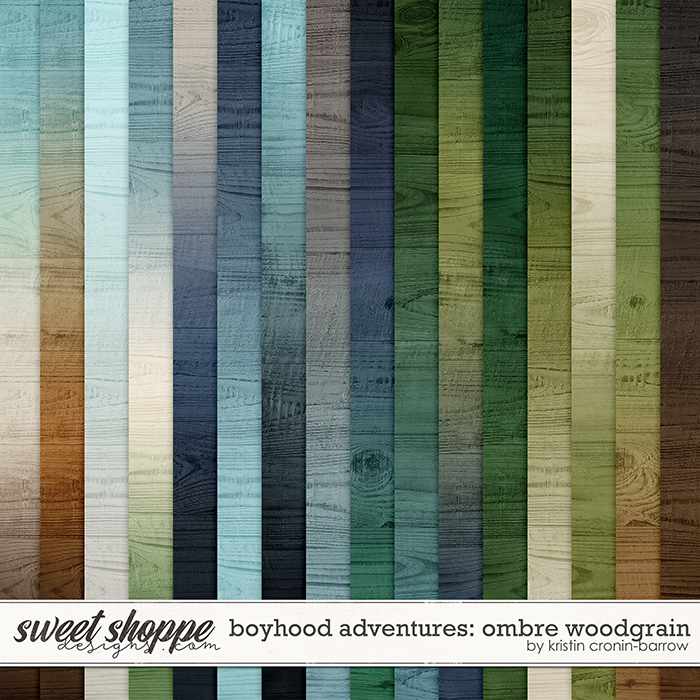 Boyhood Adventures: Ombre Woodgrain by Kristin Cronin-Barrow