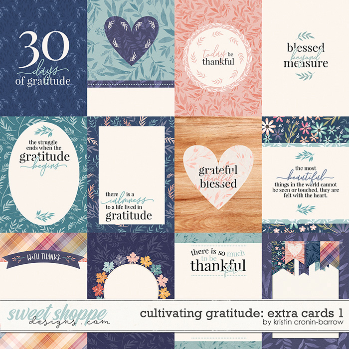 Cultivating Gratitude: extra cards 1 by Kristin Cronin-Barrow