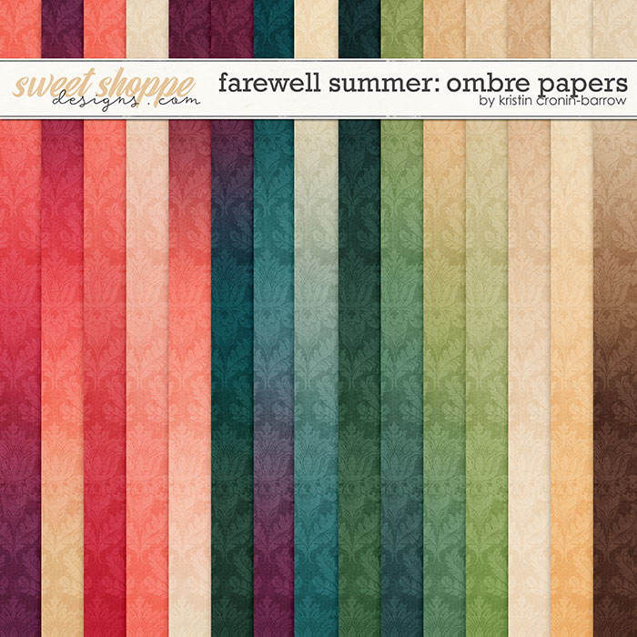 Farewell Summer: Ombre Paper Pack by Kristin Cronin-Barrow